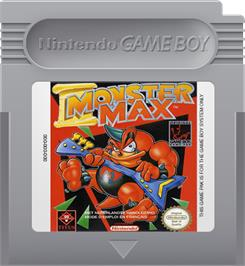 Cartridge artwork for Monster Max on the Nintendo Game Boy.