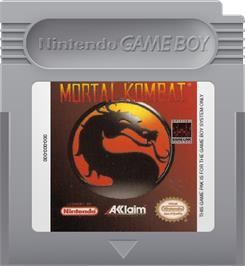 Cartridge artwork for Mortal Kombat on the Nintendo Game Boy.