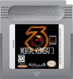 Cartridge artwork for Mortal Kombat 3 on the Nintendo Game Boy.