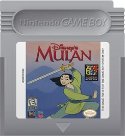Cartridge artwork for Mulan on the Nintendo Game Boy.