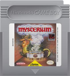 Cartridge artwork for Mysterium on the Nintendo Game Boy.