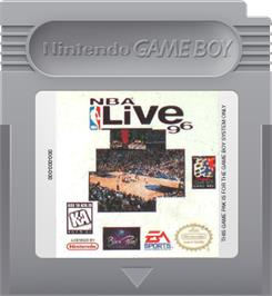 Cartridge artwork for NBA Live '96 on the Nintendo Game Boy.