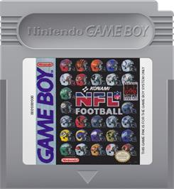 Cartridge artwork for NFL Football on the Nintendo Game Boy.