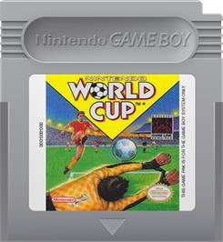 Cartridge artwork for Nintendo World Cup on the Nintendo Game Boy.