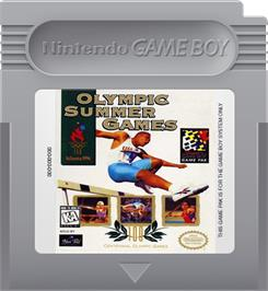 Cartridge artwork for Olympic Summer Games on the Nintendo Game Boy.