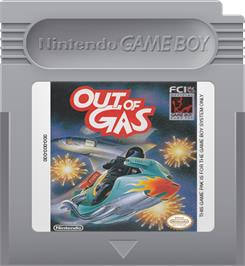 Cartridge artwork for Out of Gas on the Nintendo Game Boy.