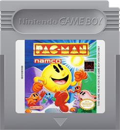 Cartridge artwork for Pac-Man on the Nintendo Game Boy.