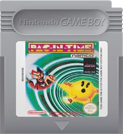 Cartridge artwork for Pac-in-Time on the Nintendo Game Boy.