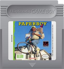 Cartridge artwork for Paperboy 2 on the Nintendo Game Boy.