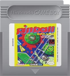 Cartridge artwork for Pinball Dreams on the Nintendo Game Boy.