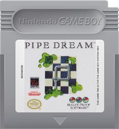 Cartridge artwork for Pipe Dream on the Nintendo Game Boy.