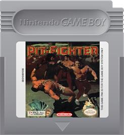 Cartridge artwork for Pit Fighter on the Nintendo Game Boy.