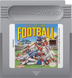 Cartridge artwork for Play Action Football on the Nintendo Game Boy.
