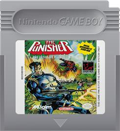 Cartridge artwork for Punisher: Ultimate Payback on the Nintendo Game Boy.