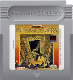 Cartridge artwork for Pyramids of Ra on the Nintendo Game Boy.