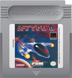 Cartridge artwork for R-Type II on the Nintendo Game Boy.
