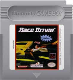 Cartridge artwork for Race Drivin' on the Nintendo Game Boy.