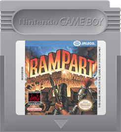 Cartridge artwork for Rampart on the Nintendo Game Boy.