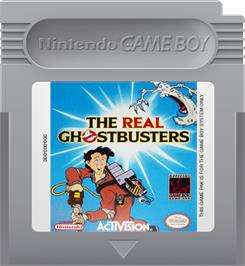 Cartridge artwork for Real Ghostbusters, The on the Nintendo Game Boy.