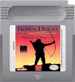 Cartridge artwork for Robin Hood: Prince of Thieves on the Nintendo Game Boy.