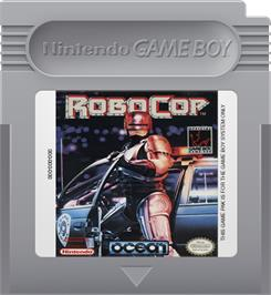 Cartridge artwork for Robocop on the Nintendo Game Boy.