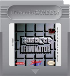 Cartridge artwork for Robocop vs. the Terminator on the Nintendo Game Boy.