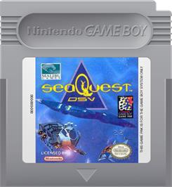 Cartridge artwork for SeaQuest DSV on the Nintendo Game Boy.