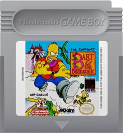 Cartridge artwork for Simpsons: Bart & the Beanstalk on the Nintendo Game Boy.