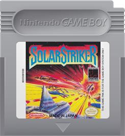 Cartridge artwork for Solar Striker on the Nintendo Game Boy.