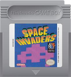 Cartridge artwork for Space Invaders on the Nintendo Game Boy.