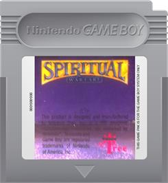 Cartridge artwork for Spiritual Warfare on the Nintendo Game Boy.