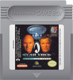 Cartridge artwork for Star Trek Generations - Beyond the Nexus on the Nintendo Game Boy.