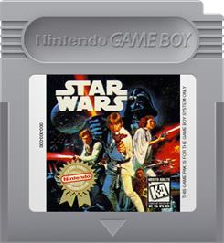 Cartridge artwork for Star Wars on the Nintendo Game Boy.