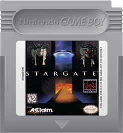 Cartridge artwork for Stargate on the Nintendo Game Boy.