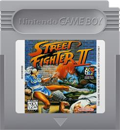 Cartridge artwork for Street Fighter II - The World Warrior on the Nintendo Game Boy.