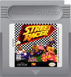 Cartridge artwork for Street Racer on the Nintendo Game Boy.