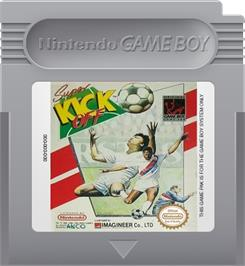 Cartridge artwork for Super Kick Off on the Nintendo Game Boy.