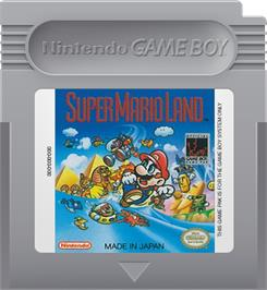 Cartridge artwork for Super Mario Land on the Nintendo Game Boy.