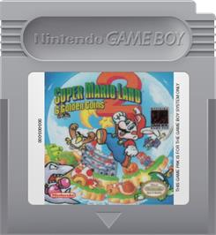 Cartridge artwork for Super Mario Land 2: 6 Golden Coins on the Nintendo Game Boy.