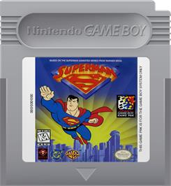 Cartridge artwork for Superman on the Nintendo Game Boy.