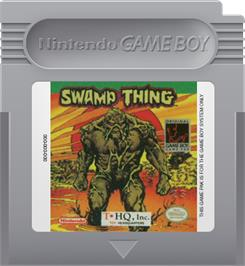 Cartridge artwork for Swamp Thing on the Nintendo Game Boy.