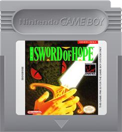 Cartridge artwork for Sword of Hope on the Nintendo Game Boy.