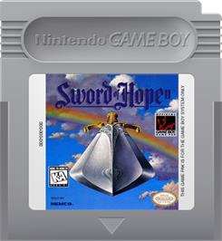 Cartridge artwork for Sword of Hope 2 on the Nintendo Game Boy.