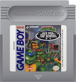 Cartridge artwork for Teenage Mutant Ninja Turtles II:  Back from the Sewers on the Nintendo Game Boy.