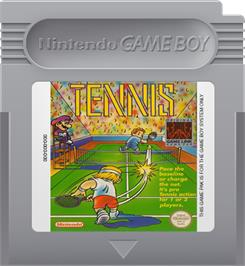 Cartridge artwork for Tennis on the Nintendo Game Boy.