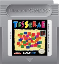 Cartridge artwork for Tesserae on the Nintendo Game Boy.
