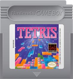 Cartridge artwork for Tetris on the Nintendo Game Boy.