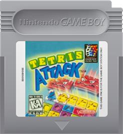 Cartridge artwork for Tetris Attack on the Nintendo Game Boy.