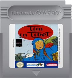Cartridge artwork for Tintin in Tibet on the Nintendo Game Boy.