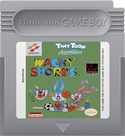 Cartridge artwork for Tiny Toon Adventures: Wacky Sports Challenge on the Nintendo Game Boy.